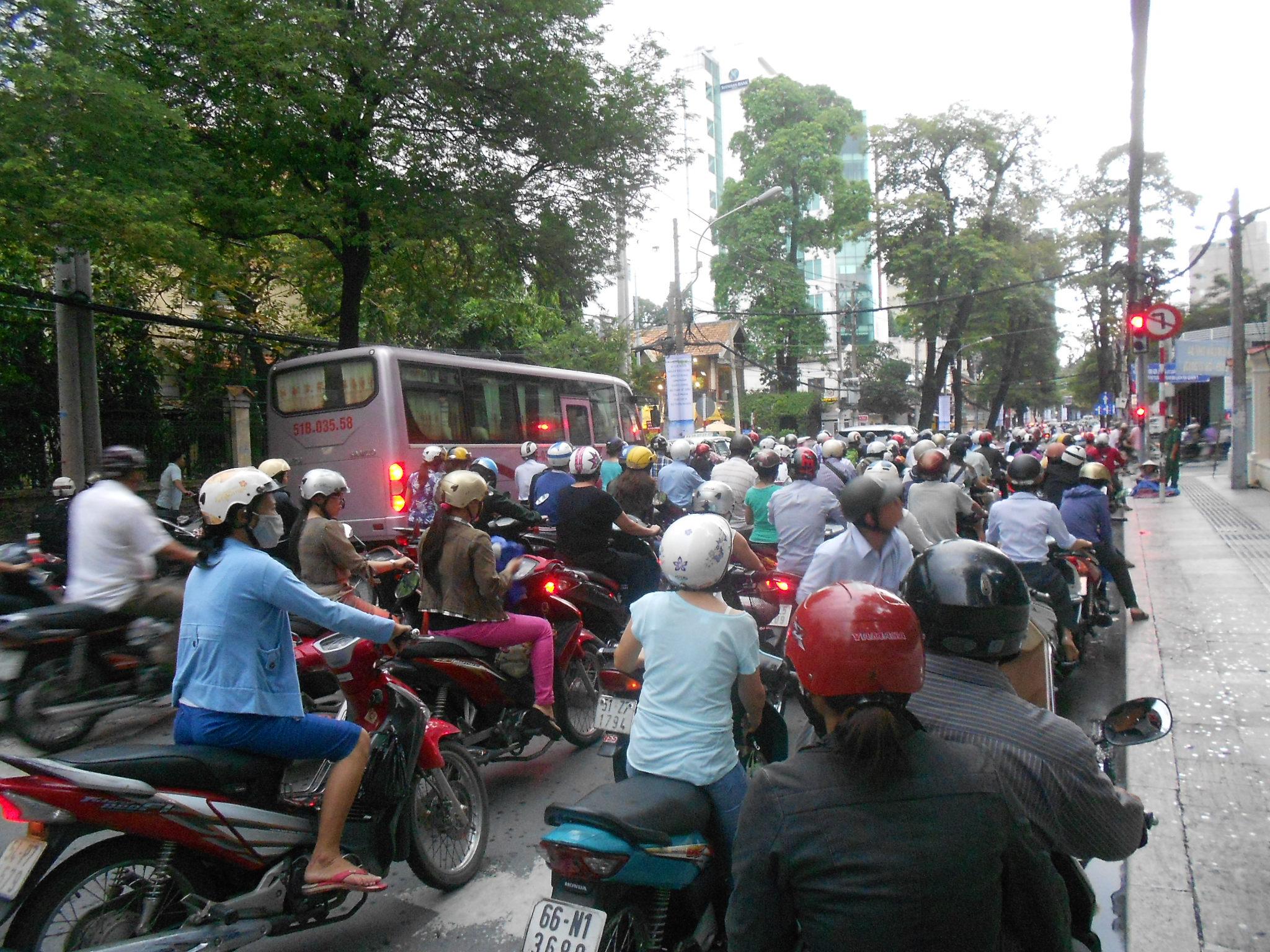 Tráfico en Saigón (Vietanm)
