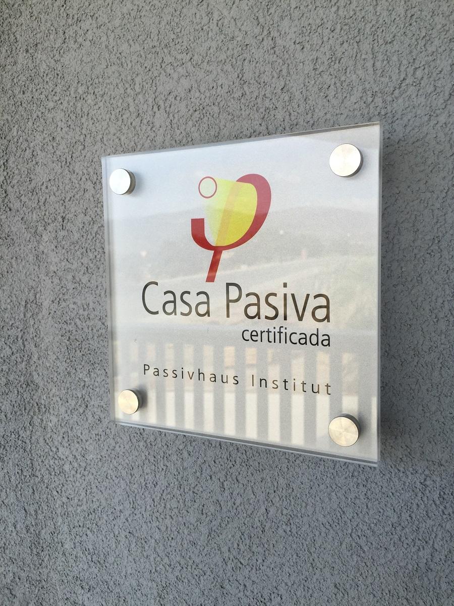 placa certificado passivhaus
